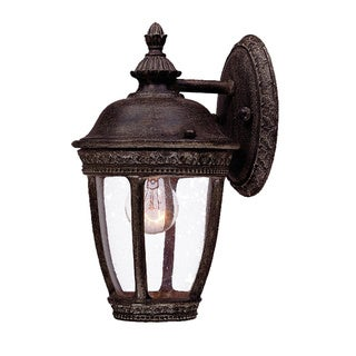 Fleur-de-lis Collection Wall-mount 1-light Outdoor Black Coral Light Fixture