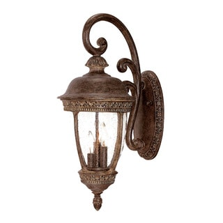 Fleur-de-lis Collection Wall-mount 3-light Outdoor Black Coral Light Fixture