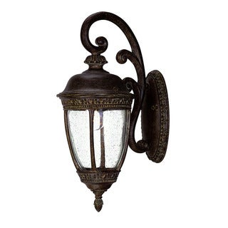 Fleur-de-lis Collection Wall-mount 1-light Outdoor Black Coral Rustproof Light Fixture