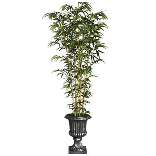 Laura Ashley 86-inch Tall Natural Bamboo Tree in 16-inch Fiberstone Planter