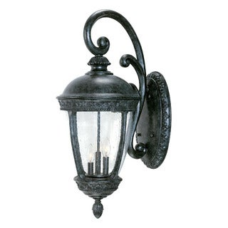 Fleur-de-lis Collection Wall-mount 3-Light Outdoor Stone Light Fixture