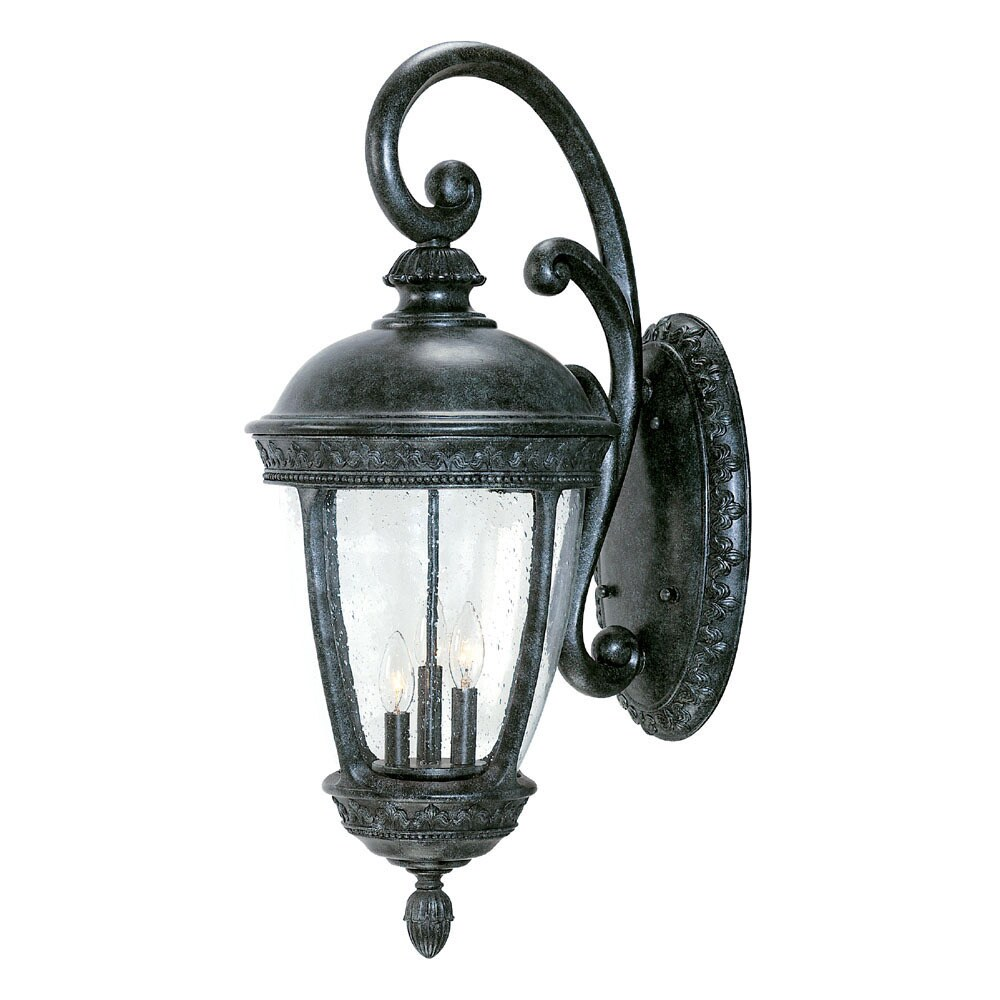 Fleur de lis Collection Wall mount 3 Light Outdoor Stone