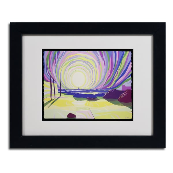 Derek Crow 'Whirling Sunris, La Rocque' Framed Matted Art