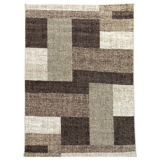 Lexington 445 Chocolate Color Block Design Rug (5 x 7)