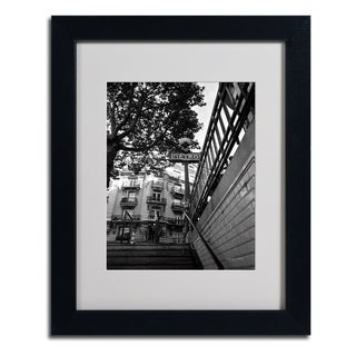 Kathy Yates 'Le Metro From Below' Framed Matted Art