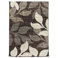 Lexington 432 Chocolate Large Leaves Design Rug (5 x 7)