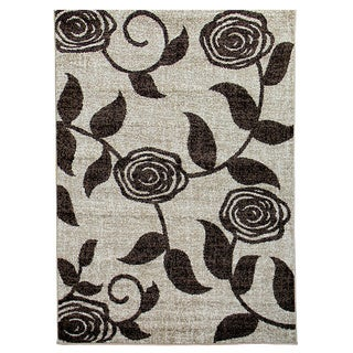 Lexington 438 Champaign Flower and Vine Design Rug (5 x 7)