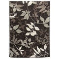 Lexington 446 Chocolate Leaves Design Rug (5 x 7)