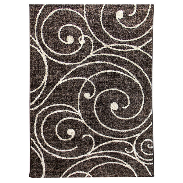 Lexington 443 Chocolate Vine Swirl Design Rug (5 x 7)
