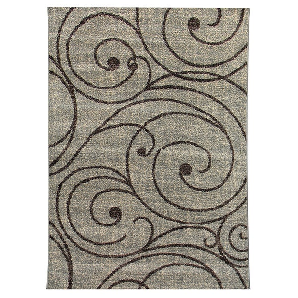 Lexington 443 Fume Vine Swirl Design Rug (5 x 7)