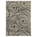 Lexington 443 Fume Vine Swirl Design Rug (5 x 7)
