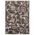 Lexington Chocolate 437 Floral & Swirly Vine Design Rug (5 x 7)