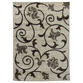 Lexington Champaign 437 Floral & Swirly Vine Design Rug (5 x 7)