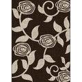 Lexington Chocolate 438 Flower & Vine Design Rug (5 x 7)