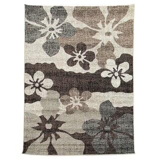 Lexington Champaign 434 Flower Abstract Design Rug (5 x 7)