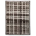 Lexington Chocolate 433 Crosshatch Design Rug (5 x 7)