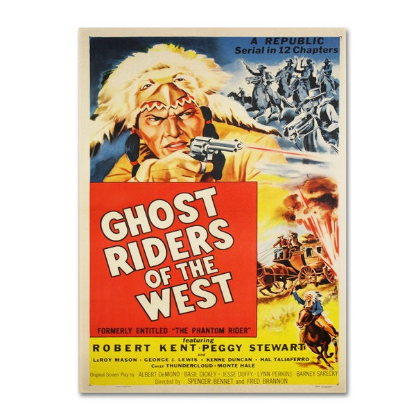 Vintage Apple Collection 'Ghost Riders of the West' Canvas Art