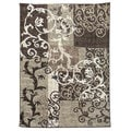 Lexington Chocolate 430 Floral Vine Design Rug (5 x 7)