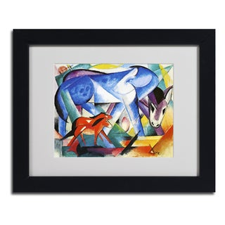 Franz Marc 'The First Animals' Framed Matted Art
