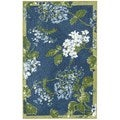 Nourison Waverly Aura Flora Royal Rug (5'3 x 7'5)