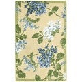 Nourison Waverly Aura Flora Golden Rug (5'3 x 7'5)
