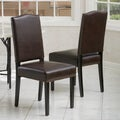Christopher Knight Home Brunello Brown Leather Dining Chairs (Set of 2)