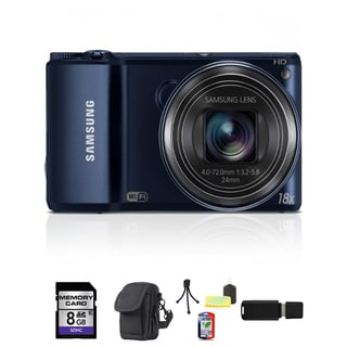 Samsung WB200F Smart Wi-Fi 16.4MP Black Digital Camera 8GB Bundle