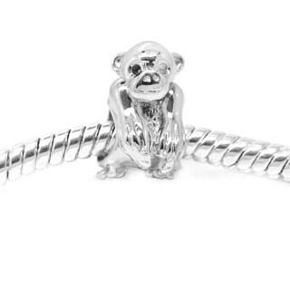De Buman Sterling Silver Monkey Charm Bead