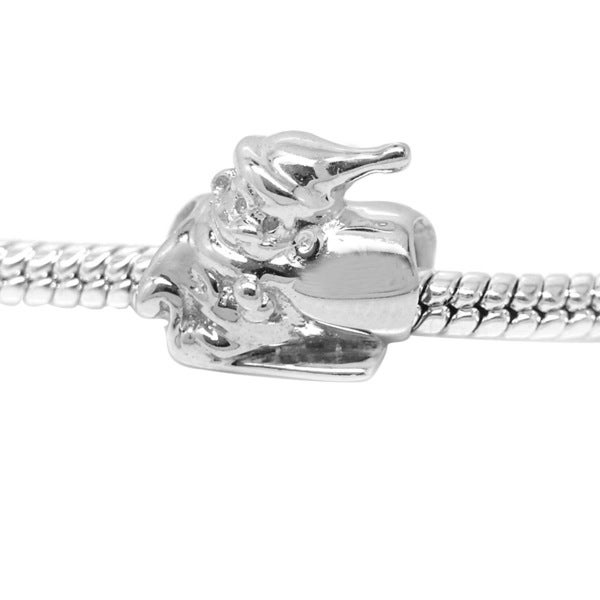 De Buman Sterling Silver Santa Claus Charm Bead