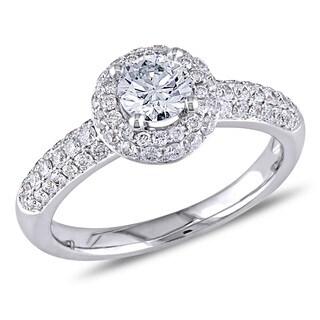Miadora 14k White Gold 1ct TDW Diamond Engagement Ring (E-F, SI1-SI2)