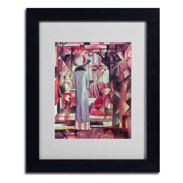 August Macke 'Woman In Front of a Window' Framed Matted Art