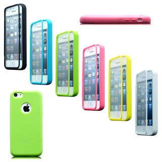 Gearonic TPU Wrap up Case Built in Screen Protector for iPhone 5C