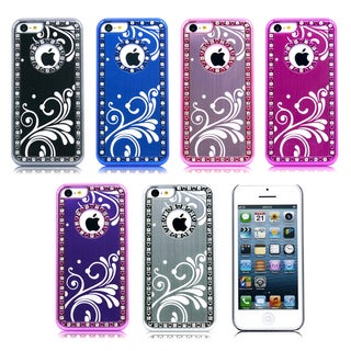 Gearonic aluminum plating chrome hard PC back cover case for iPhone 5C