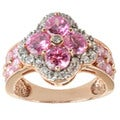 Michael Valitutti 14k Rose Gold Pink and White Cubic ZIrconia Ring