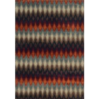Geometric Ikat Multi/ Stone Rug (3'10 x 5'5)