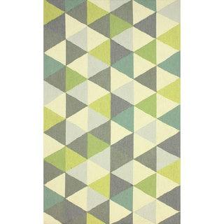 nuLOOM Hand-hooked Triangle Multi Rug (5' x 8')