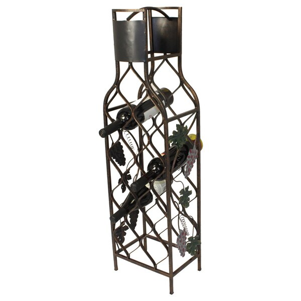 Casa Cortes 12-bottle Design Metal Wine Rack