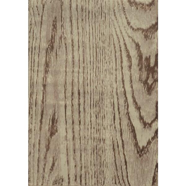 Wood Grain Stone/ Brown Rug (5'3 x 7'6)