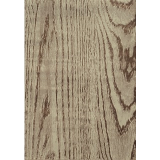 Wood Grain Stone/ Brown Polypropylene Rug (6'7 x 9'6)