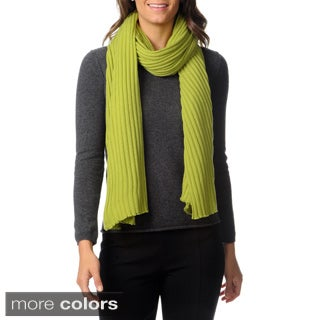 Ply Cashmere Women's Lightweight Picot Edge Scarf