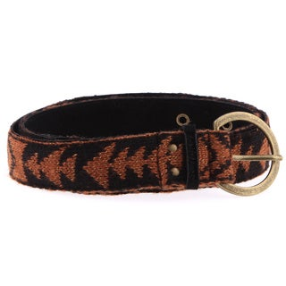 Muk Luks Women's North American Pattern Belt with Bonus Knee Socks