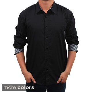 Filthy Etiquette Men's Slim Fit Solid Button-front Shirt