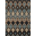 Old World Tribal Blue/ Stone Polypropylene Rug (6'7 x 9'6)