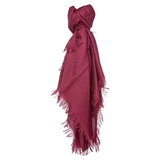Fendi Cherry Oversized Zucca Silk and Wool Wrap