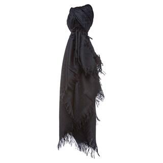 Fendi Navy Oversized Zucca Silk and Wool Wrap