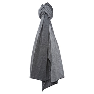 Fendi Grey Micro Zucchino Dual Colored Wool Scarf