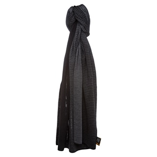 Fendi Charcoal Micro Zucchino Dual Colored Wool Scarf