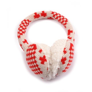Muk Luks Girls Knit Hearts Earmuffs
