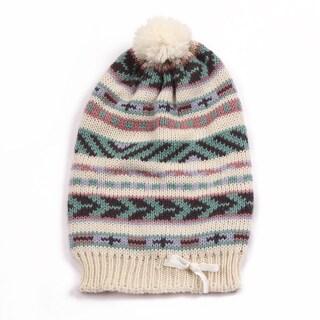 Muk Luks Girls Knit Pom Pom Beanie