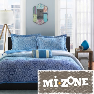 Mi Zone Calypso Peach Skin 4-piece Comforter Set